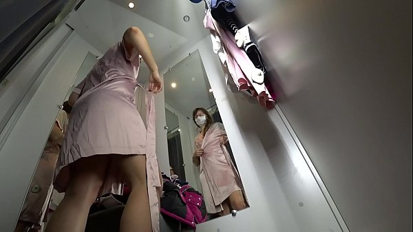 Hidden camera, Long leg, Dressing room, Ass view