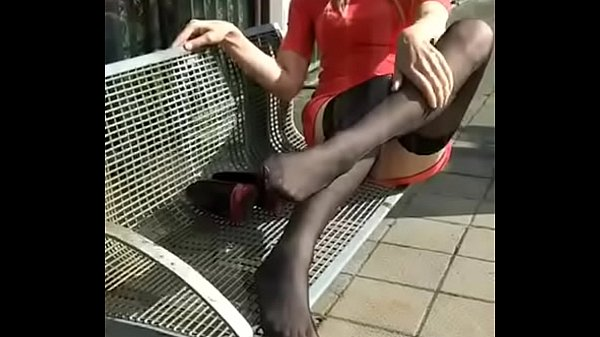 Nylon, Nylon feet, Mature feet, Mature nylon, Blonde mature, Sexy mature